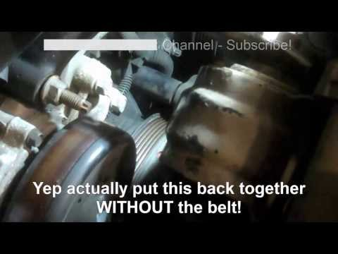 Serpentine belt replacement Buick Lesabre 1998 3.8L Oldsmobile. Pontiac Install Remove Replace