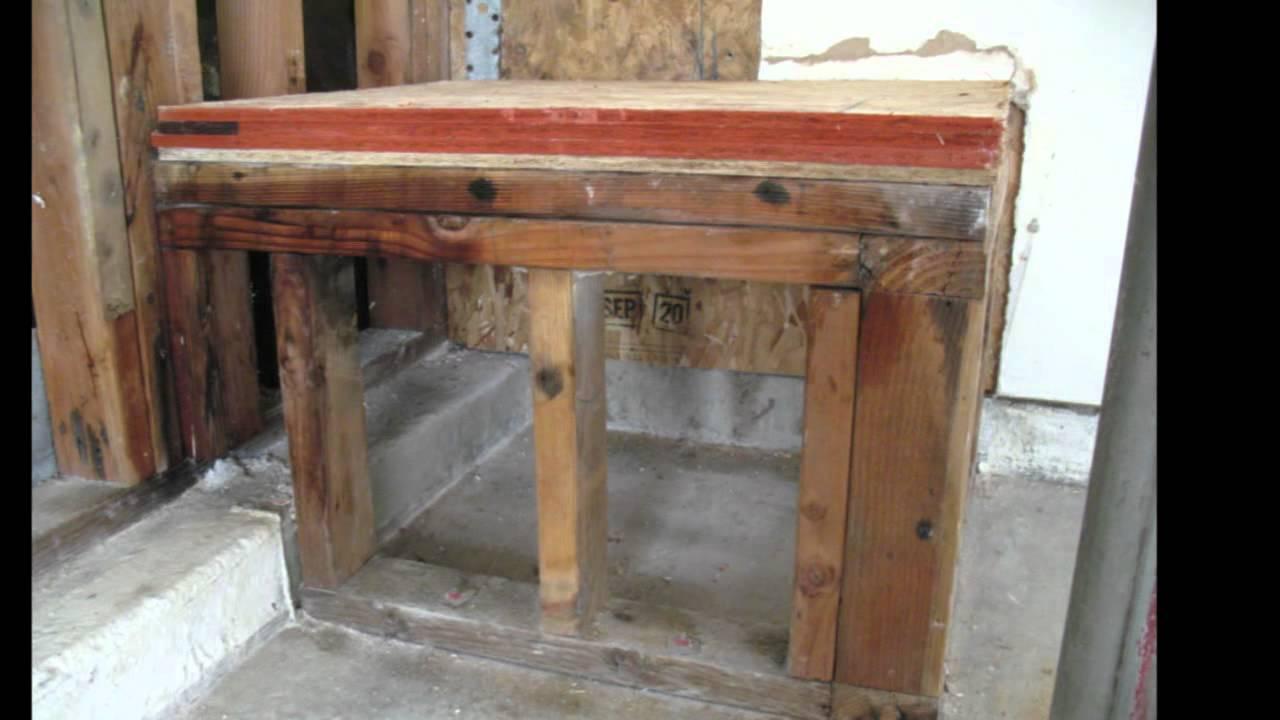 Water Heater Platform Construction Tips