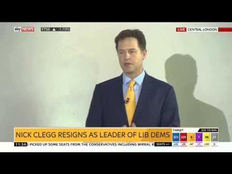 Nick Clegg Quits As Lib Dems Leader