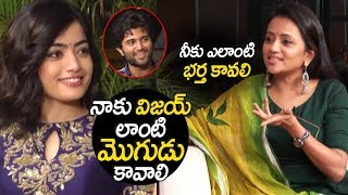 Rashmika Mandanna comments on Vijay Devarakonda | Geetha Govindam interview | Filmylooks