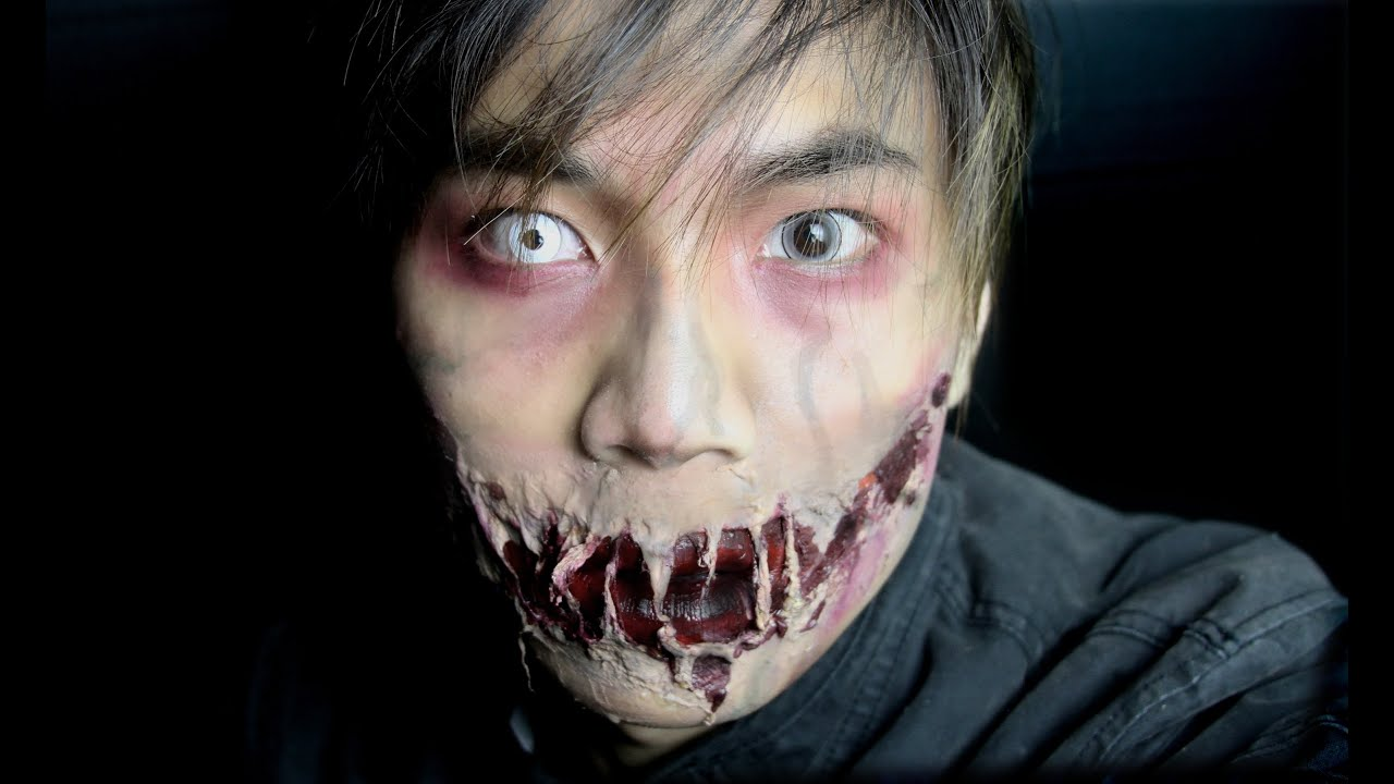 Ripped Zombie Mouth Makeup