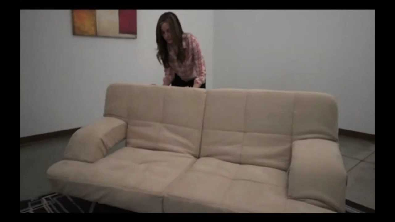 How to position your sleeper sofa bed chaise lounge futon for Chaise youtubeur