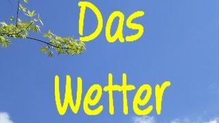Learn German Das Wetter