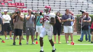 Alabama practice before scrimmage