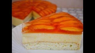Летний ЛЕГКИЙ ДЕСЕРТ Рецепт ТОРТ без ВЫПЕЧКИ Тортик с ПЕРСИКАМИ Как сделать ТОРТ Cake