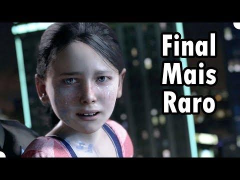 O Final Mais Raro na Demo de DETROIT BECOME HUMAN - Gameplay em Português PT BR no PS4 Pro