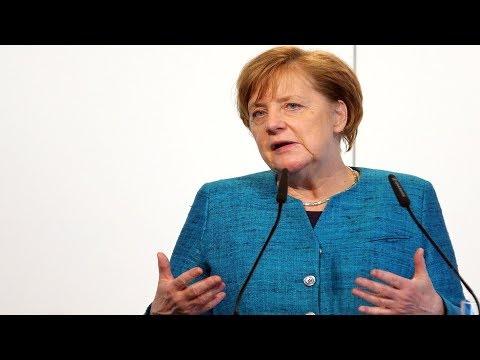 Bundeskanzlerin Angela Merkel in Kassel - CDU-Wahlkampf fГr Landtagswahl Hessen 2018
