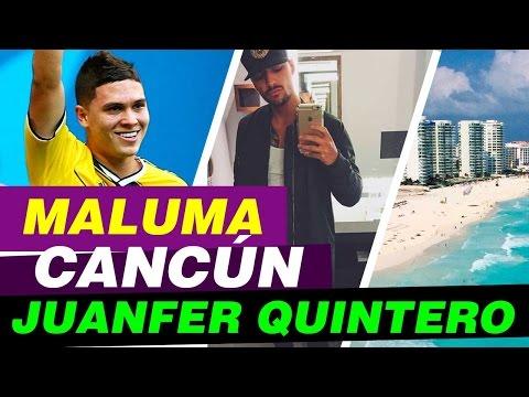 Maluma en Cancun y Juan Fernando Quintero! Wazza y Maluma