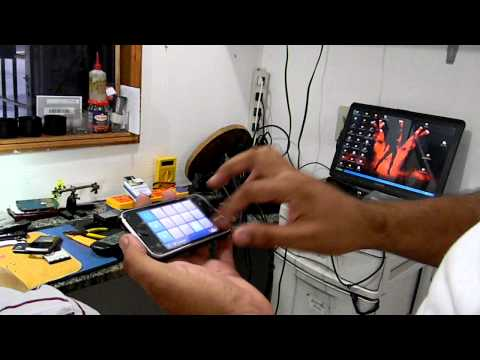STIVE MANDANDO NA MINI MPC DO IPHONE