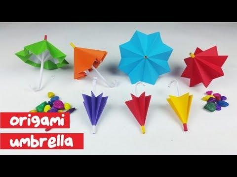 CARA MEMBUAT PAYUNG ORIGAMI, KOK BISA !  How to fold umbrella paper easy (Tutorial WOW)