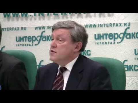 Пресс-конференция лидеров ЯБЛОКА. Григорий Явлинский