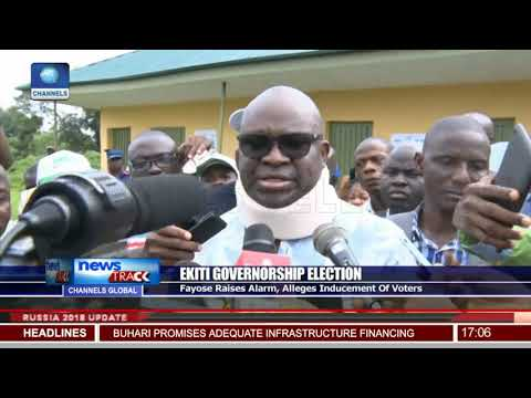 Fayose Raises Alarm,Alleges Inducement Of Voters