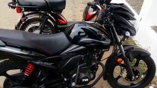 New TVS Victor Black Colour
