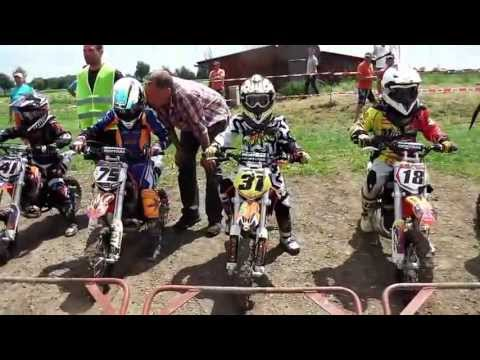 Motocross-rennen  Klasse 1 - 50ccm - Msc-eichenried Kindercross 2013 video