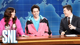 Weekend Update: Pete Davidson on Living with His Mom - SNL (Emma Thompson)