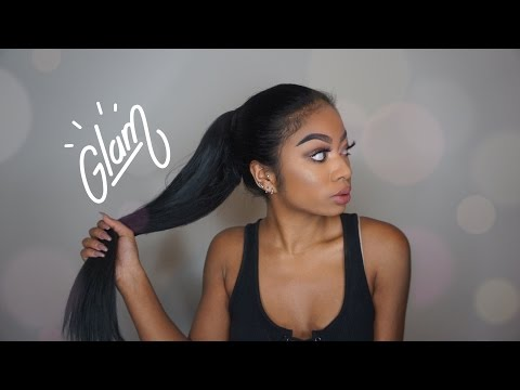 The SIMPLE WAY to do a ponytail extension
