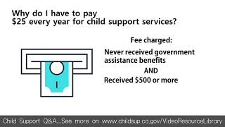 Why do I have to pay $25 every year for child support services?