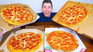 Pizza Hut vs. Domino's vs. Papa John's vs. Little Caesars • PIZZA TASTE TEST