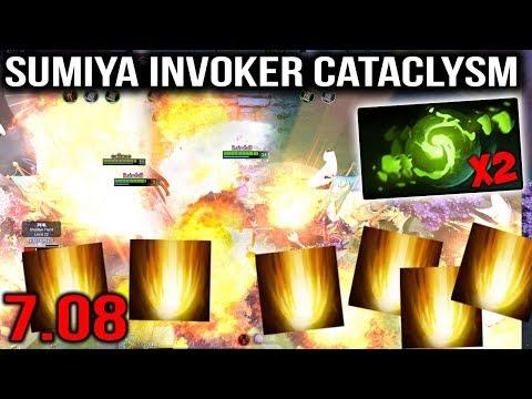 Sumiya Invoker Cataclysm Refresher Combo 20x Sunstrike WTF Dota 2