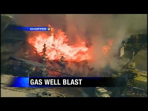 Gas Well Explodes Worker Missing