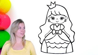 How to draw a cartoon princess