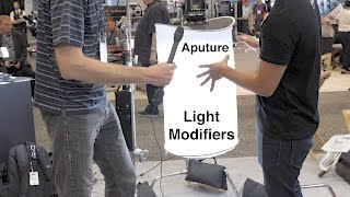 Aputure Space Light and Light Dome Mini - NAB 2017