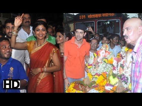 Hrithik Roshan, Anil Kapoor & Shilpa Shetty at Ganesh visarjan