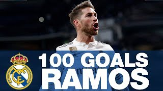 SERGIO RAMOS, 100 GOALS at REAL MADRID