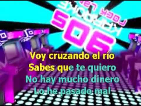 Espaldas mojadas - Tam Tam go (Version cover Karaoke con letra pintada)