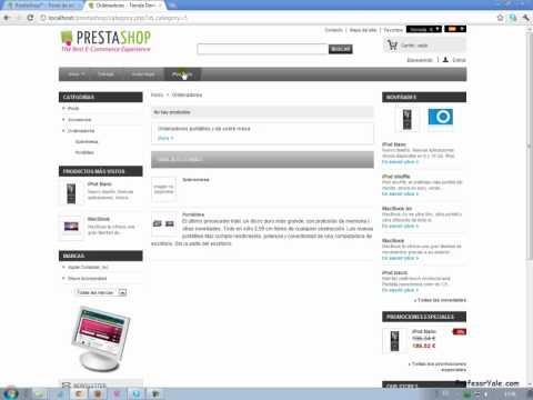 Instalación plantilla Prestashop template 1.4.5 free