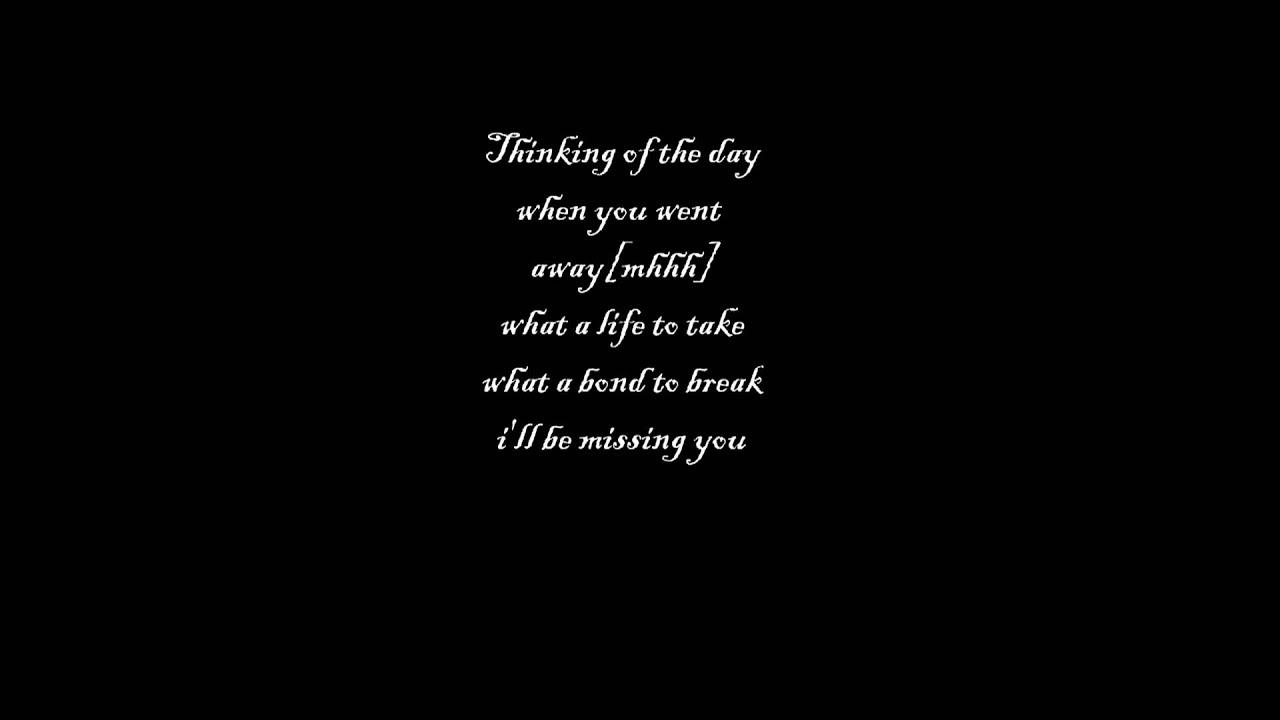 I not missing you lyrics