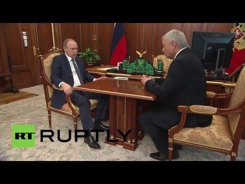 Russia: Putin briefed on sports medicine developments ahead of Rio 2016
