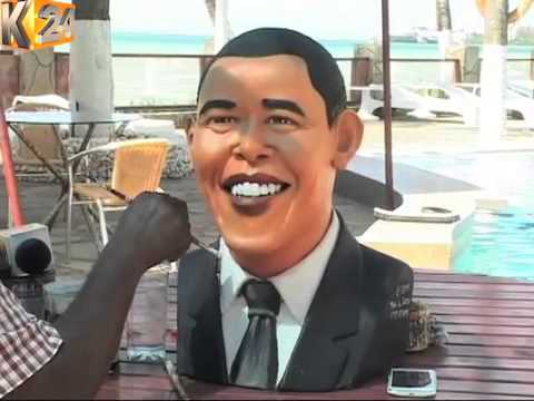 Craftsman makes life size Obama figure ahead of his Nairobi visit