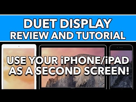 Duet Display Review & Tutorial - Use iPhone/iPad as Second Display with your Mac