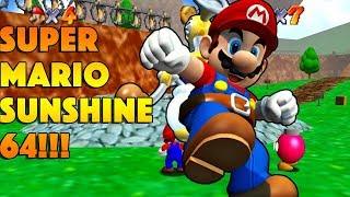 F.L.U.D.D. In Super Mario 64!?!?! - SM64 Mod Showcase!