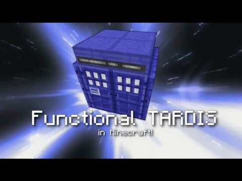 Functional TARDIS in Minecraft