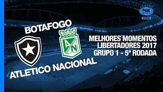 Melhores Momentos - Botafogo 1 x 0 Atletico Nacional - Libertadores - 18/05/2017