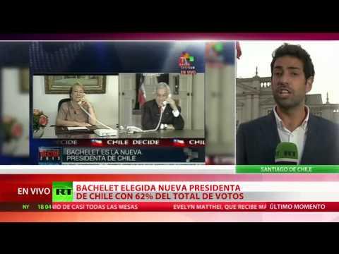Michelle Bachelet gana las elecciones presidenciales en Chile
