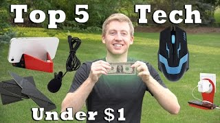Top 5 Tech Under $1 with Shipping!