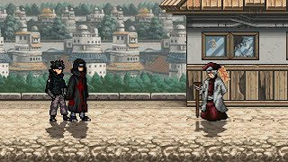 Itachi and Shisui VS Danzo in M.U.G.E.N