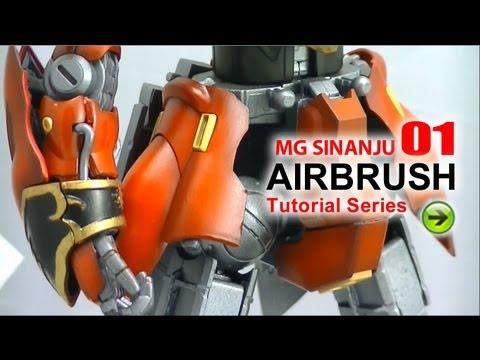 MG Sinanju 1 - Airbrush Painting Tutorial Guide, how to paint your gundam model kits