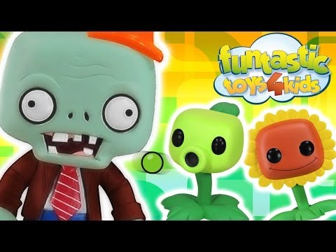 FUNNY Plants vs Zombies Videogame video of Conehead, Peashooter & Sunflower PopCap Games Let