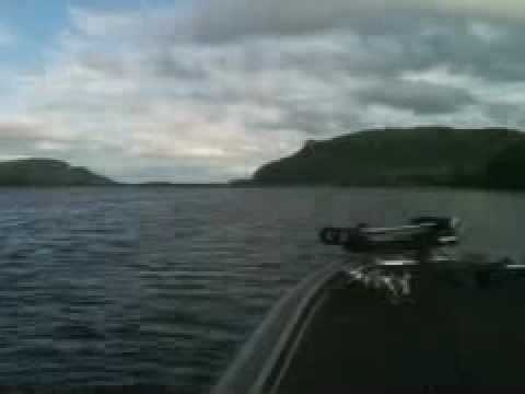 Bass fishing on Mississippi River near Winona MN