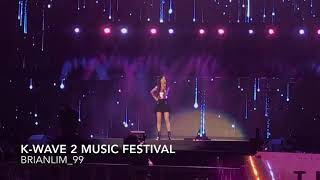 [LIVE] Intro + I - Taeyeon - K-Wave 2 Music Festival 2018