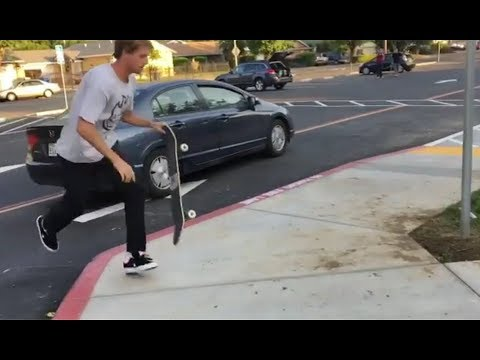 INSTABLAST! - Fs Crook Ghost Ride Da WHIP!?!! Rooftop U-Pipe Action!! GNARLY Freeway Grind to Bomb!!