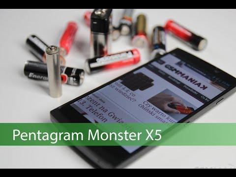 Wideo test i recenzja telefonu Pentagram Monster X5   techManiaK.pl