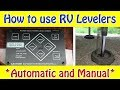 How to use RV Levelers - Automatic and Manual