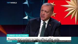 President Erdogan talks about the need to curb terrorism