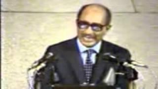 خطاب الرئيس السادات أمام الكنيست الإسرائيلي عام 1976.