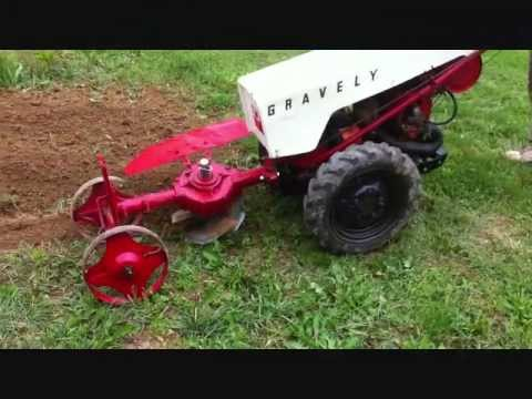 Video #1 Gravely Tractor Demonstration Series 1962 Gravely Rotary Plow Gravely Plowing